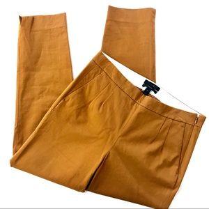 J. Crew Martie stretch pant khaki / mustard